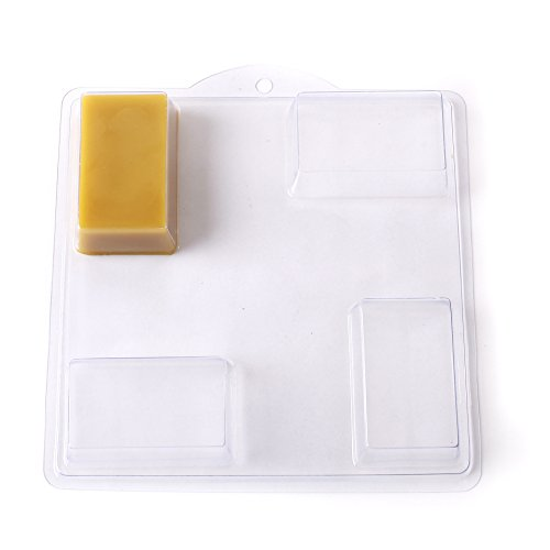 4 Rectangle Soap or Bath Bomb Mold id A16