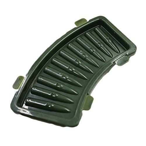 amazing-trading(TM) AK 47 Bullets Shape Frozen Ice Cube Tray Mold, Green