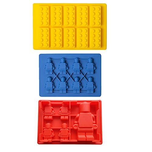 iNeibo Kitchen Lego Brick Silicone 3 Piece Mold Set
