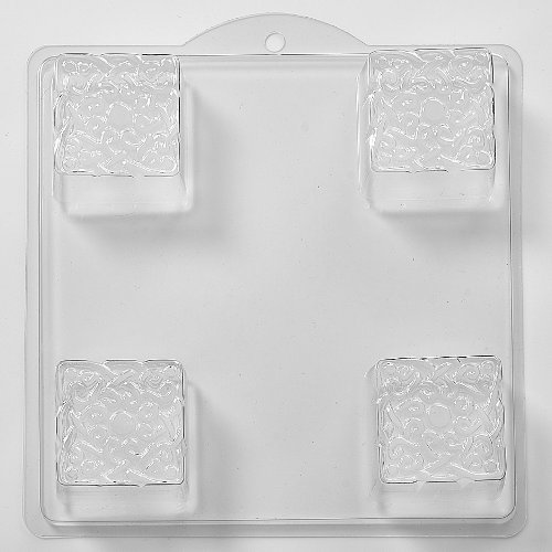 Knot Patterned Embossed Square Soap Or Bath Bomb Mold ID I04