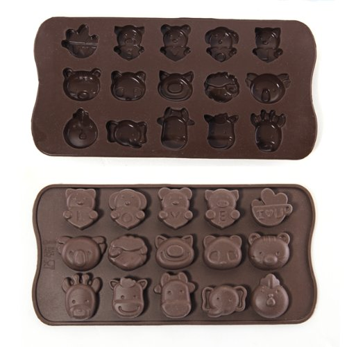 Silicone Animal Chocolate Sweet Candy Soap Ice Cube Tray Mould Mold