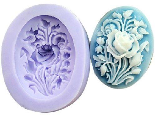 An Allforhome Flower Pattern Soap Mold