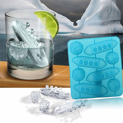 Titanic Shaped Ice Cube Trays Mold Maker Silicone Party By BuyinCoins
