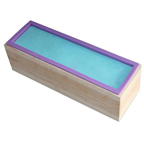 Allforhome Long Soap Mold With Wood Box Stand