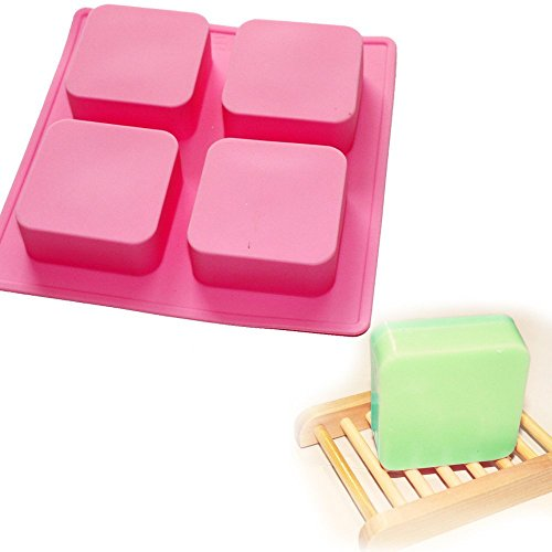 Allforhome Square Basic 4 Cavity Silicone Mould