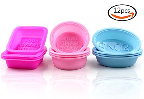 12 Square, Round and Oval Soap Moulds