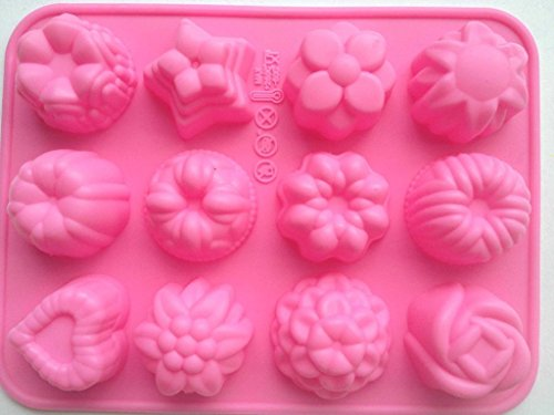 Allforhome 12 Flower Assortment Mold