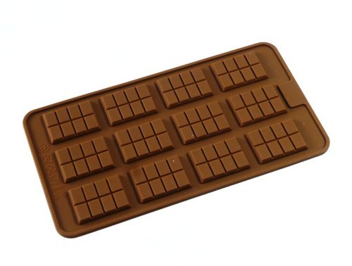 12 Chocolate Bar Silicone Mold Tray