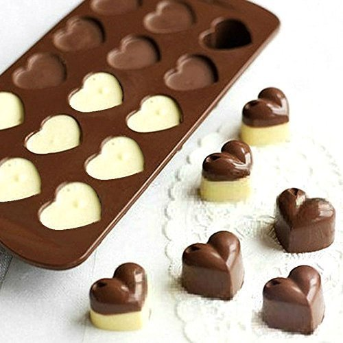 Generic Heart-shaped Valentine Silicone Chocolate Mould