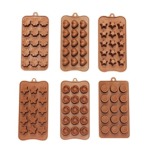 Kurtzy 6 Set Silicone Chocolate Mould
